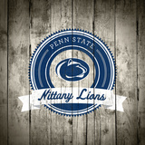 Penn State Nittany Lions Logo on Wood
