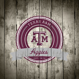 Texas A&M Aggies Logo on Wood