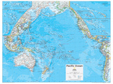 2014 Pacific Ocean Political - National Geographic Atlas of the World  10th Edition