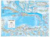 2014 West Indies - National Geographic Atlas of the World, 10th Edition Reproduction d'art