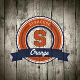Syracuse Orange Logo on Wood