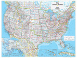 2014 United States Political - National Geographic Atlas of the World, 10th Edition Reproduction d'art