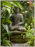 Bali  Ubud  a Statue of buddha Sits Serenely in Gardens