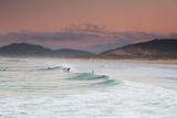 Long Exposure of Surfers Enjoy the Wave on Praia Da Joaquina Beach