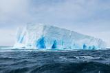 A Tabular Iceberg Floats in the Drake Passage  Antarctica