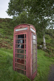 Red Telephone Booth on Kerrera Isle  Part of the Scottish Inner Hebrides