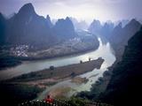 Karst Mountains Along the Li River  Guilin  Guangxi Province  China