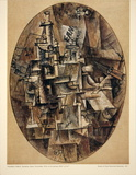Bottle, Glass, Fork Reproduction d'art par Pablo Picasso