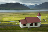 A Roadside Church on the Peninsula of Westfjords  Iceland