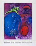 The Dream of Lamon and Dryas Reproduction d'art par Marc Chagall