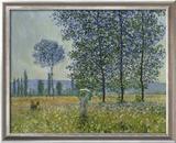Fields in Spring, 1887 Reproduction giclée encadrée par Claude Monet
