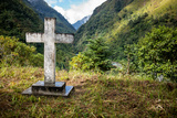 A Cross on a Hilltop Above the Village of Dashutu