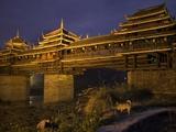Chengyang Wind and Rain Bridge at Night