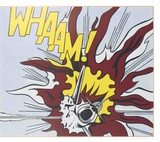 Whaam B Reproduction d'art par Roy Lichtenstein