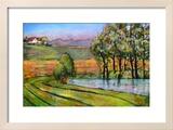 Landscape Art Scenic Fields Painting Reproduction giclée encadrée par Blenda Tyvoll