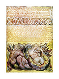 Rahab and Tirzah Embracing Dragons  Page 78 of the Poem Jerusalem by William Blake  1804-1820