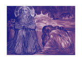 Ezekiel Kneeling by the Death-Bed of His Wife by William Blake  1793