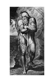 Joseph of Arimathea Among the Rocks of Albion Engraved by William Blake  1773