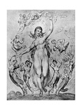 Mirth and Her Companions by William Blake