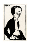 Max Beerbohm  Caricature by Joseph Simpson