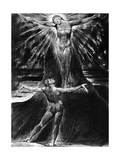 Albion Contemplating Jesus Crucified  Page 76 of the Poem Jerusalem by William Blake  1804-1820