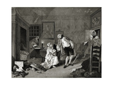 Marriage a La Mode - the Divorce - Engraving by William Hogarth
