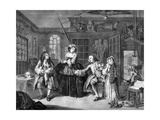 Marriage a La Mode -The Quack Doctor's Studio - Engraving by William Hogarth