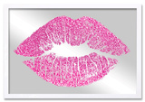 Solid Kiss Pink Glitter Mirror