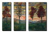 Quatre arbres, 1917 Tableau multi toiles par Egon Schiele