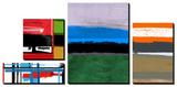 Stripes and Squares Tableau multi toiles par NaxArt