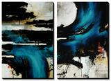 Turquoise Splash Tableau multi toiles par Rikki Drotar