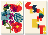Allergies: Franzi's Bouquet ... Gesundheit Tableau multi toiles