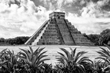 ¡Viva Mexico! B&W Collection - Pyramid of Chichen Itza VII
