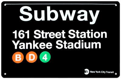 Subway 161 Street Station- Yankee Stadium Tin Sign