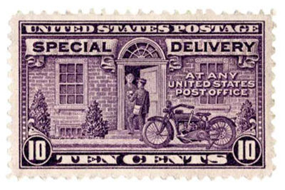 Special Delivery Stamp Art Print