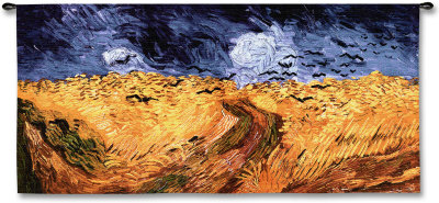 Wheatfields with Crows - Wall Tapestry
