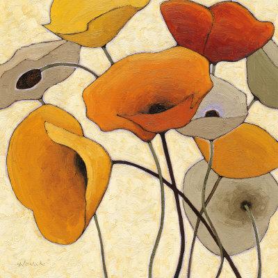 Pumpkin Poppies III Art Print