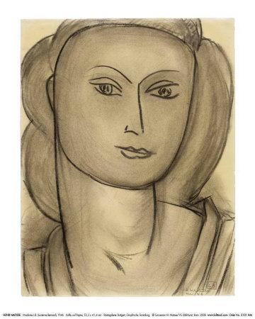 Madame Lucienne Bernard, c.1946 - Art Print