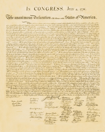 Declaration of Independence Art Print