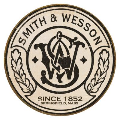Smith & Wesson - Round Tin Sign