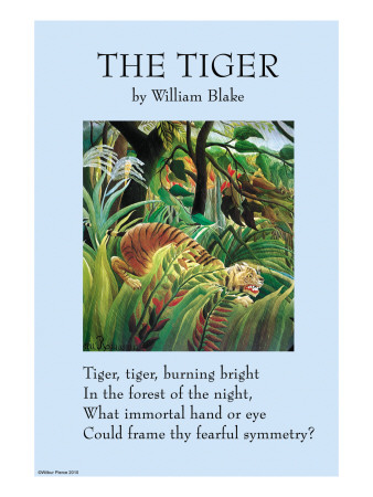 an analysis of william blakes the tyger The tiger by william blake 1757-1827 tiger, tiger, burning bright in the forests of the night, what immortal hand or eye could frame thy fearful symmetry.