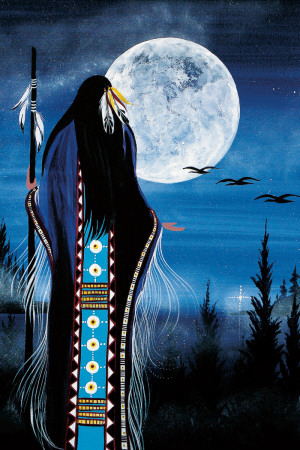 Evening Star Woman Art Print