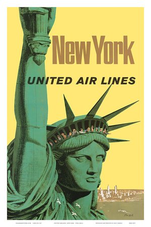 United Air Lines: New York, c.1950s Art Print