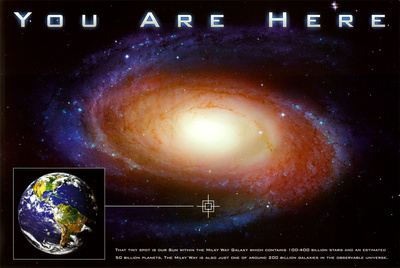 Classic You Are Here Galaxy Space Science Poster Print Poster