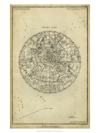 Antique Astronomy Chart I Art Print
