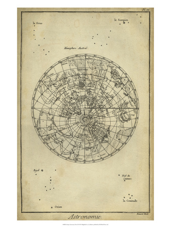 Antique Astronomy Chart II Art Print