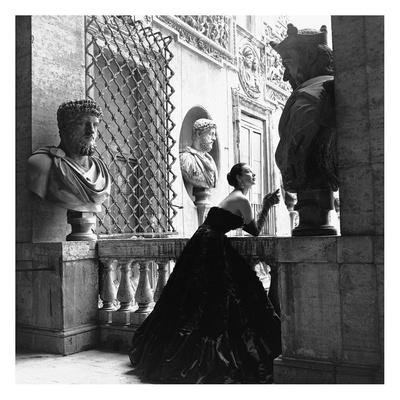 Evening Dress, Roma, 1952 Art Print