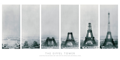 Construction of the Eiffel Tower Art Print