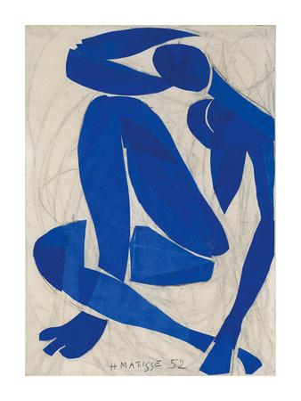 Nu Bleu IV - Art Print