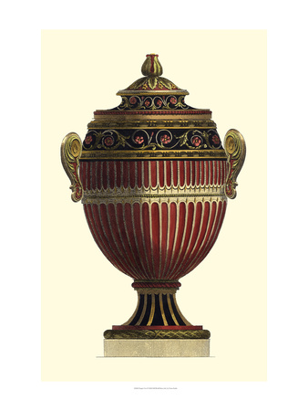 Empire Urn I Art Print